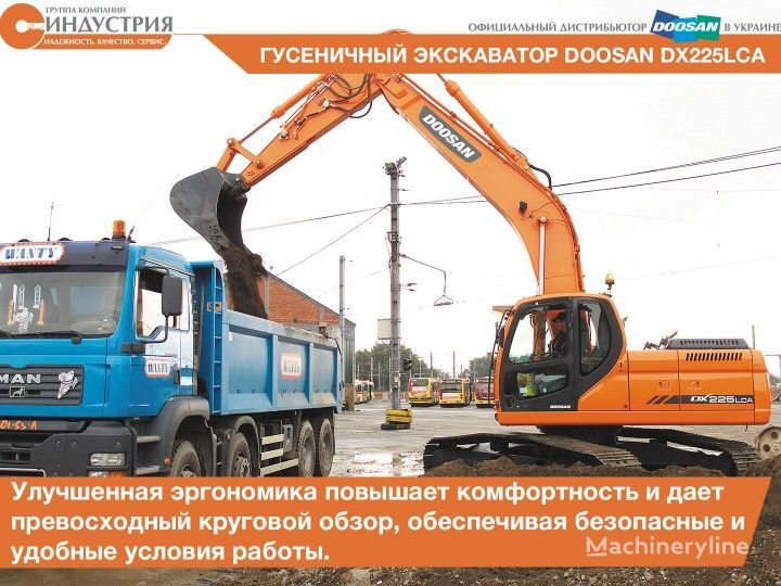 New doosan dx 225 lca tracked excavator for sale tracked for Lca construction