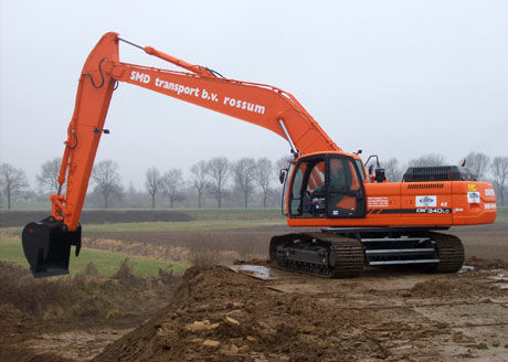 New doosan dx 340 lca tracked excavator for for Lca construction