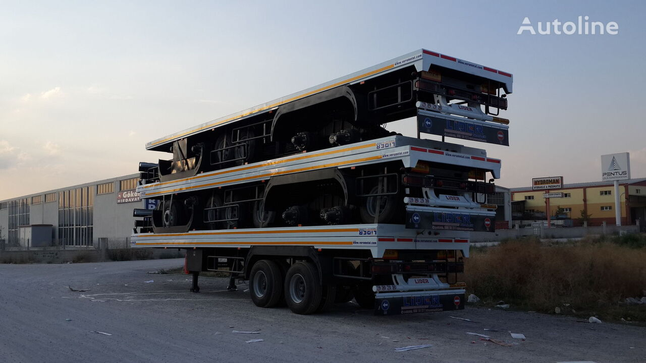 new LIDER سطحة للبيع موديل اوربي 2018 flatbed semi-trailer