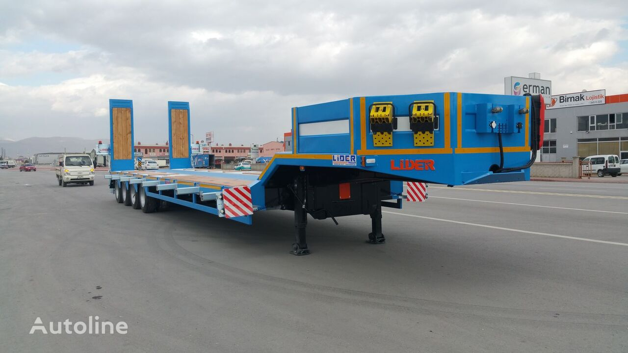 new LIDER 2018  model new directly from manufacturer company available sel low bed semi-trailer
