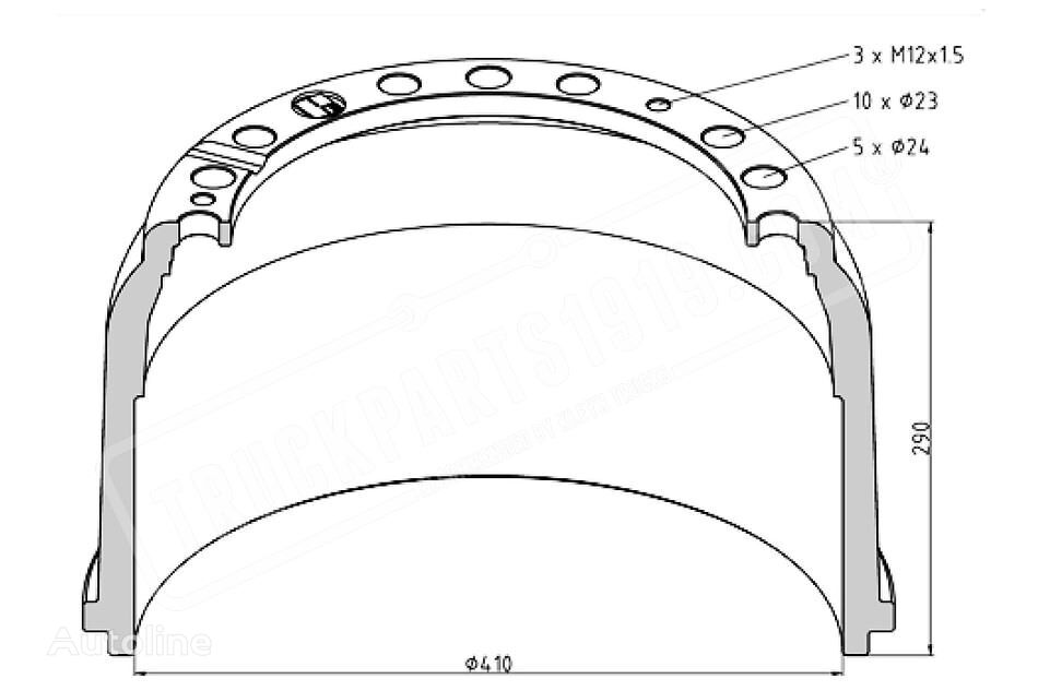 new TRUCKPARTS1919 brake drum for truck