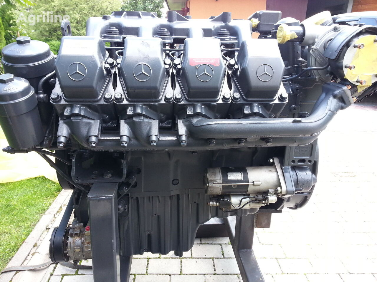 New mercedes benz om 502 la engine for claas for Mercedes benz rebuilt engines