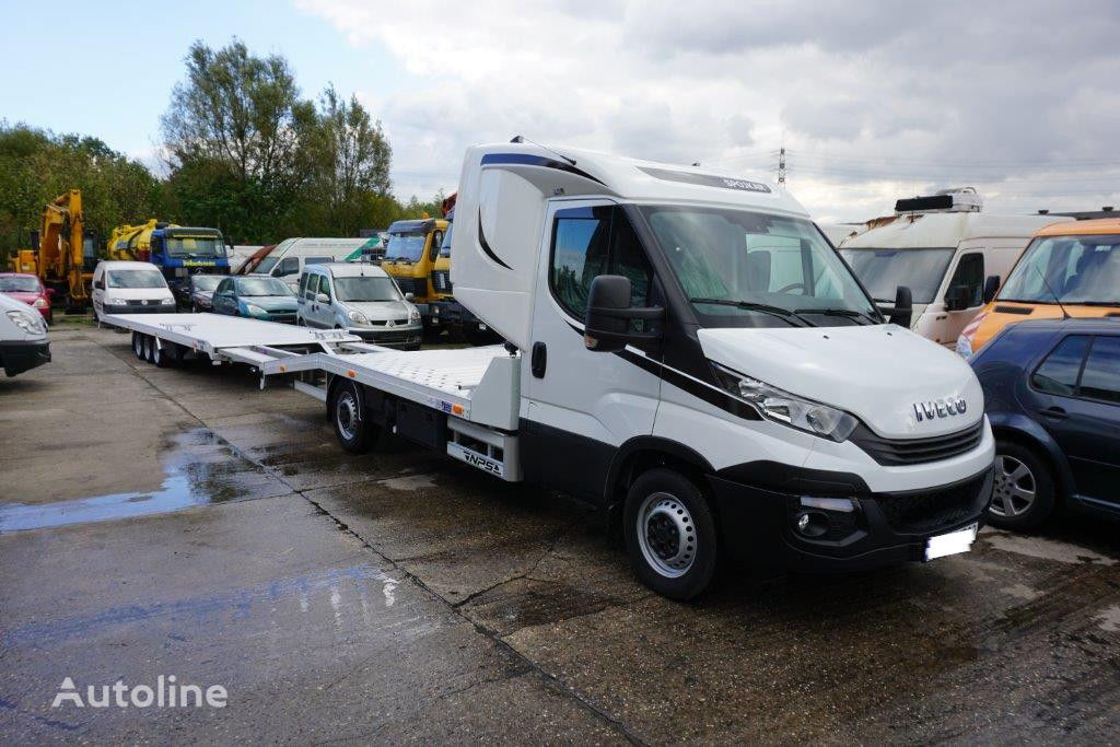 new iveco daily 35s18 autotransporter 1 3 auto schlafkabine finanzierung car transporter for. Black Bedroom Furniture Sets. Home Design Ideas